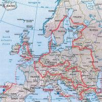 Route durch Europa