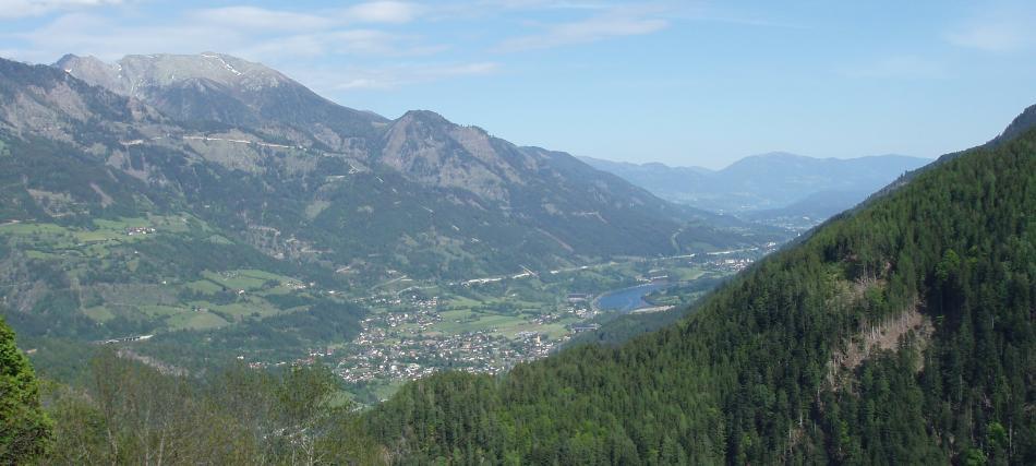 Blick aus der Teuchl nach Kolbnitz